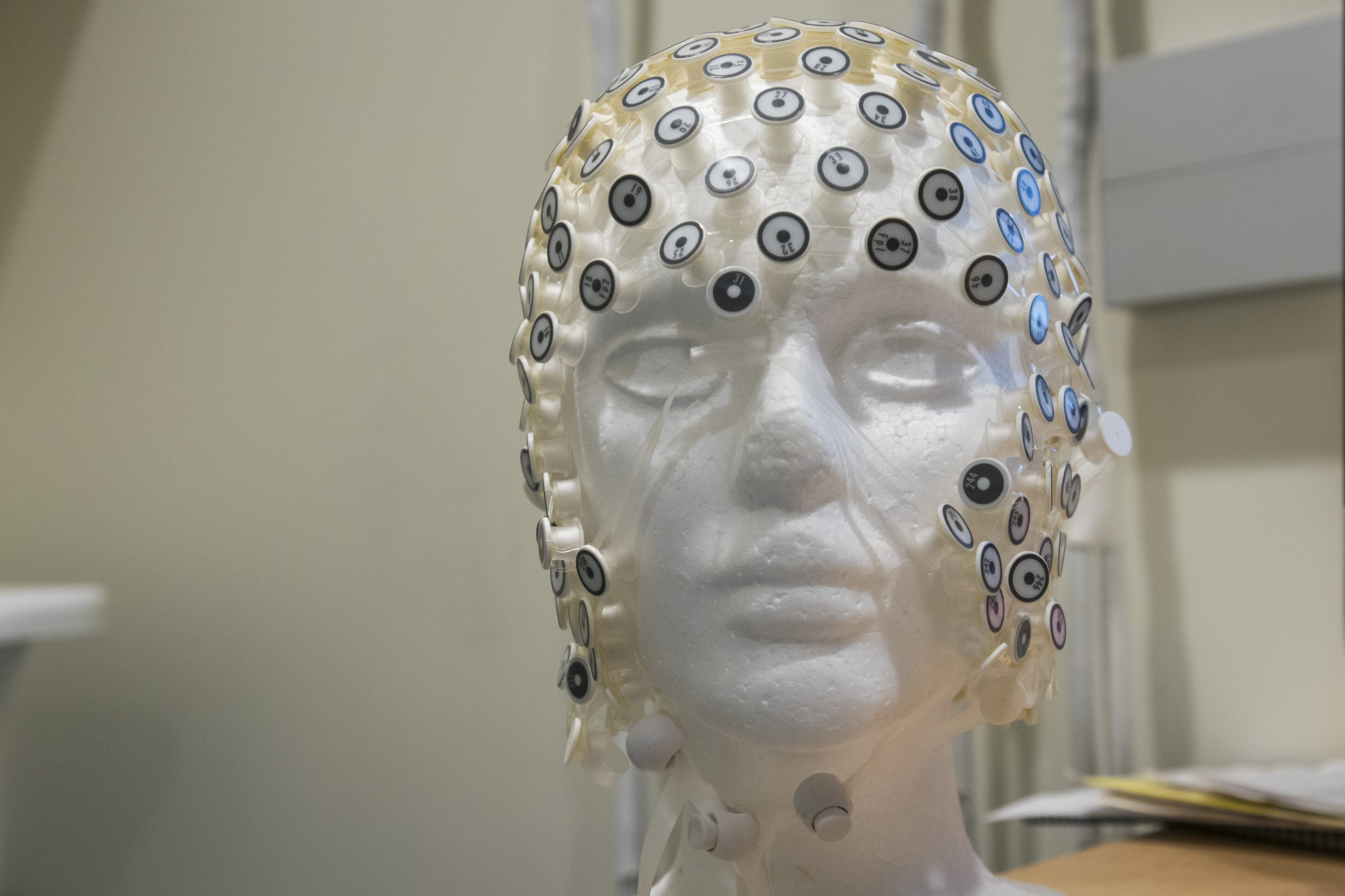 Photo of EEG cap
